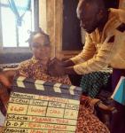 Spotted:Nollywood Veteran,Liz Benson on a Movie Set