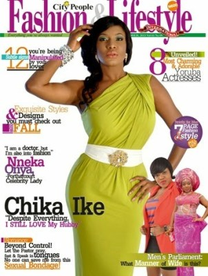 Chika Ike on the cover of City people fashion and lifestyle magazine.