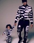 Chris Brown & Daughter Royalty In Matching Oufits