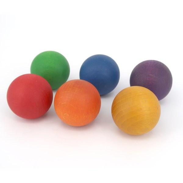 Grapat 6 Coloured Wooden Balls