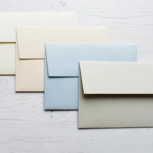 Thank you cards envelope colours