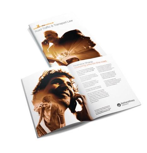 Branding Logo and Brochure Design - Rothera Sharp Road Traffic & Transport Law