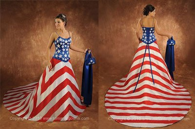 American Flag Wedding Gown Babs Projects