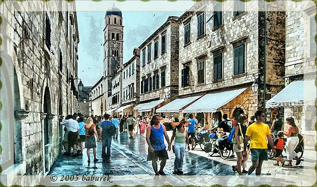 Stradun - the main street of Dubrovnik
