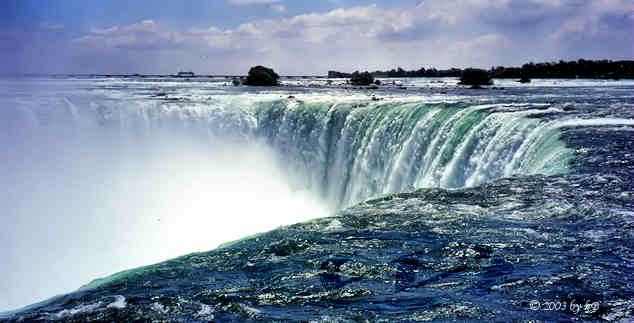 At the edge of Niagara Falls