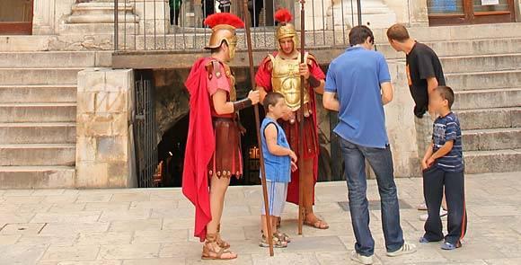 Scene in Diocletian's palace, Split