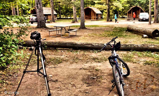 Cabins at Lake Placid KOA campground