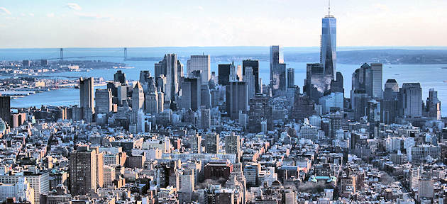 View on New York City from the Empire State building