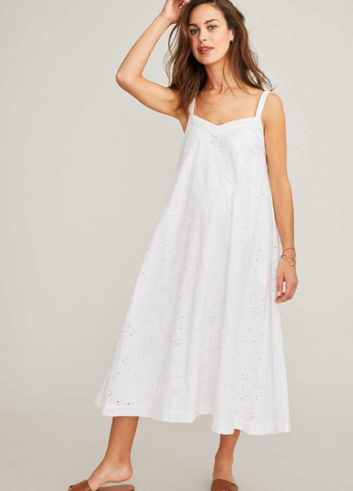 HATCH The Eyelet Astrid Dress