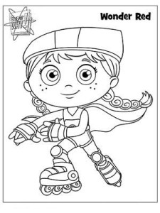 Super Why Wonder Red Coloring Page