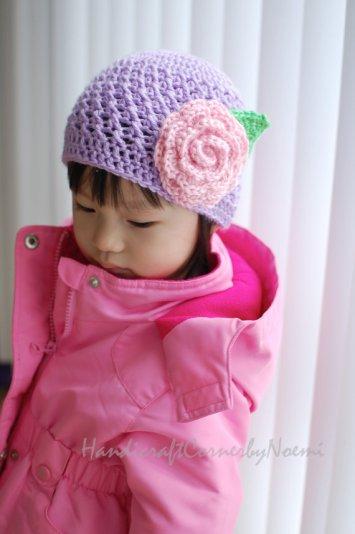 purple crochet hat 2