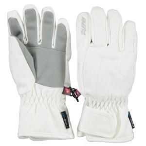 Ziener witte meisjes handschoenen Lati extra warm