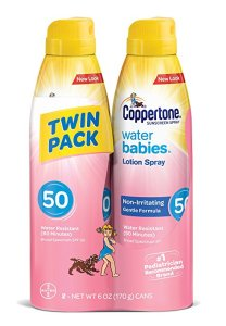 Coppertone WaterBabies Sunscreen Quick Cover Lotion Spray