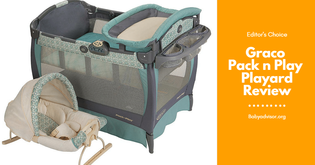 58c8a27f36b8 Graco Pack and Play Playard with cuddle cove rocking seat Review 2019