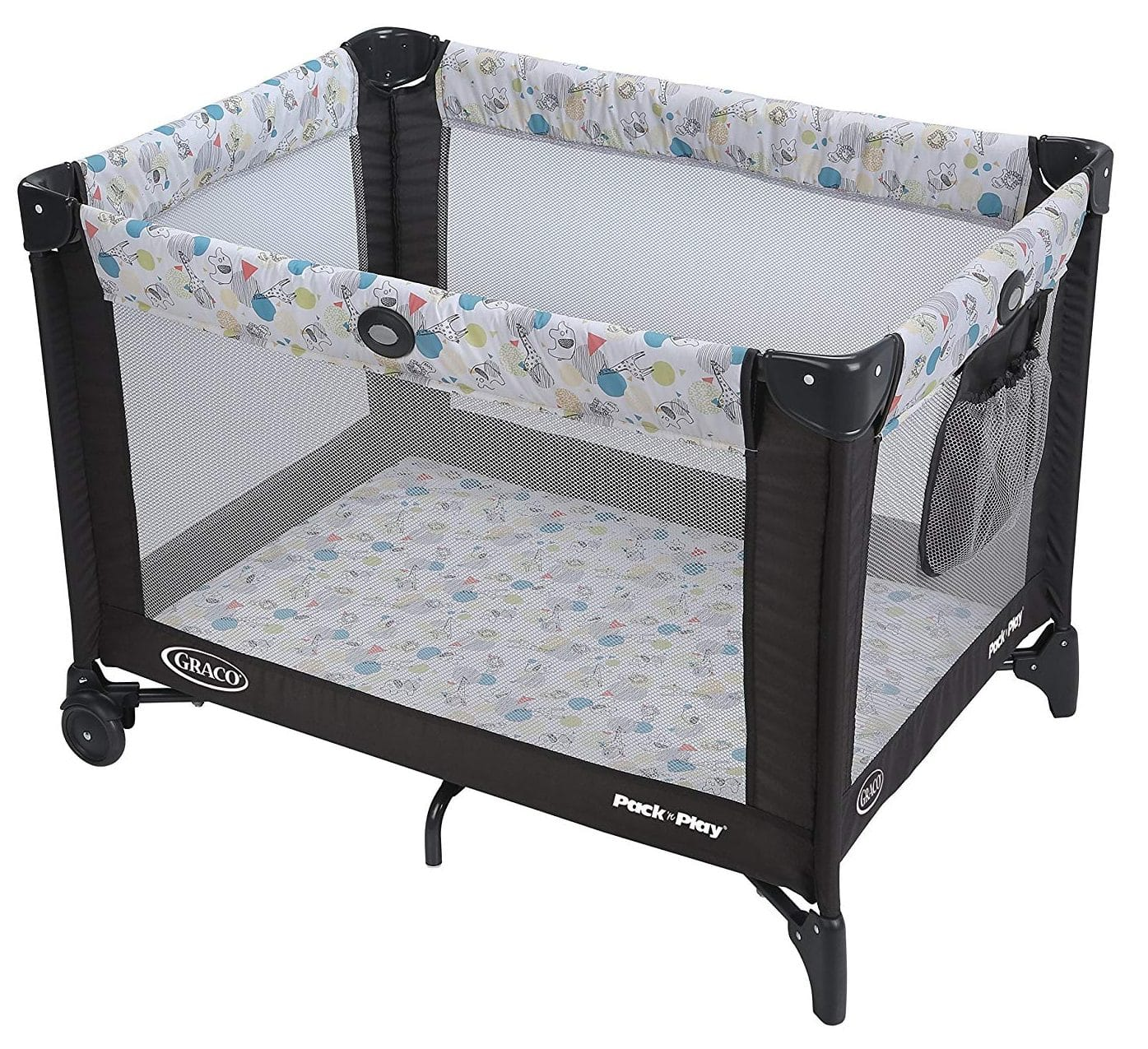 Playpens & Play Yards Hearty Deluxe Fabric Round Playpen Soft Touch Flexable Machine Washable New Baby