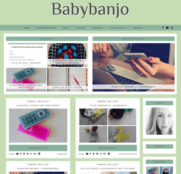 1 jaar Babybanjo – mijn blogverhaal
