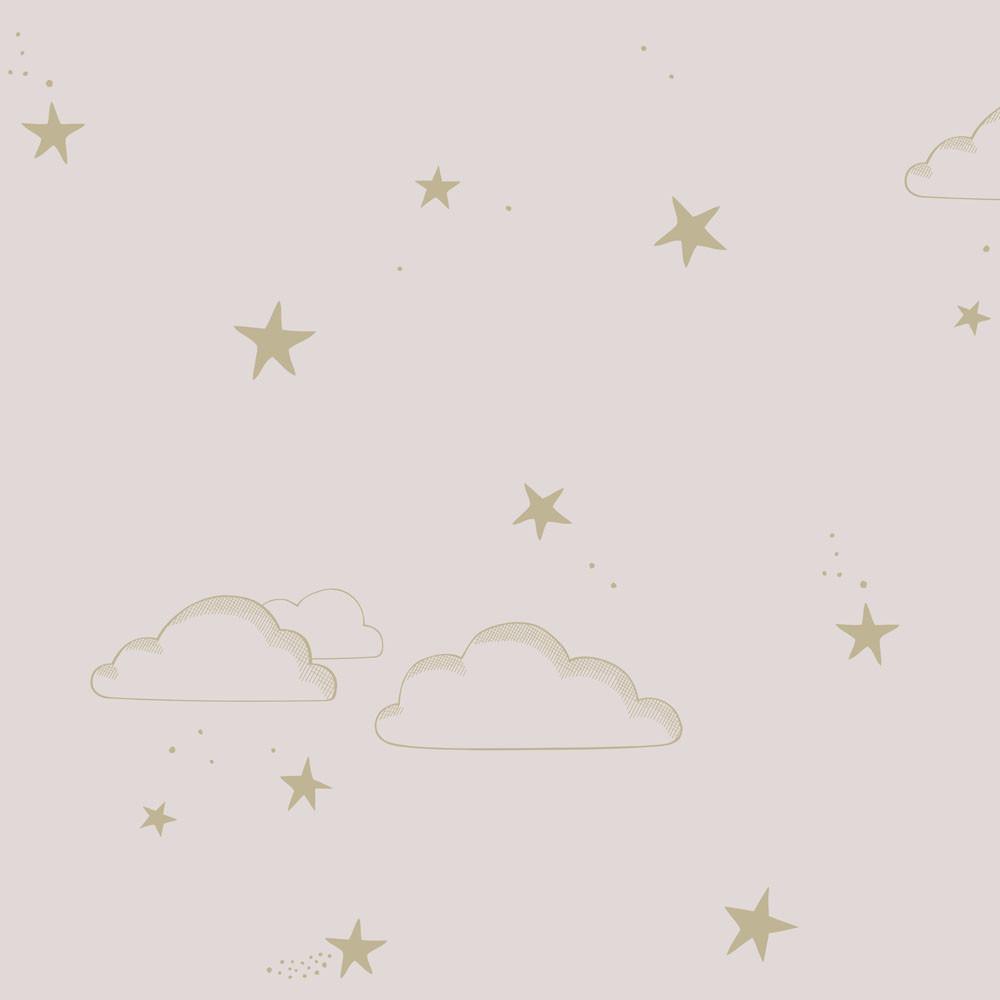 Starry Sky Wallpaper Pale RoseGold