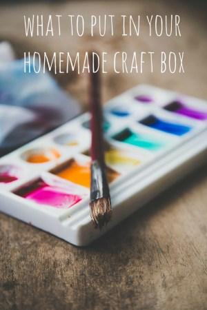 Homemade Craft Box