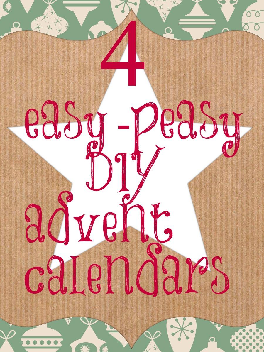 easy diy advent calendar ideas for a thrifty christmas. Black Bedroom Furniture Sets. Home Design Ideas