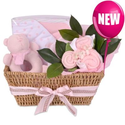Babybuds baby gifts delivery new zealand same day auckland babybuds hamper pink negle Gallery