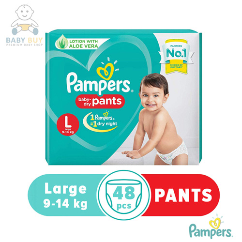 Pampers Baby Dry Pants Large L 48 pcs