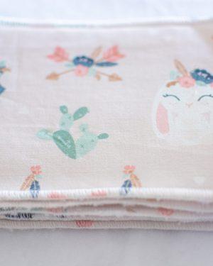 maxi lingettes lavables réutilisables coton bambou fait main zéro déchet