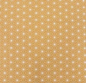 tissu graphique géométrique ocre