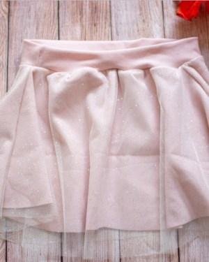 jupe pailletée tulle fête noël nouvel an anniversaire tenue fille créatrice fait main artisanal