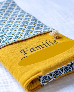 protège livret de famille personnalisé creation fait main artisanale