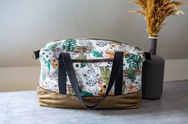 sac à langer grand et pratique fait main artisanal