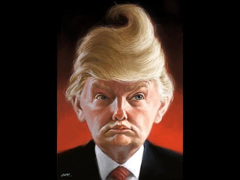 Caricutres-Donald-Trump-With-Poop-Hair-Style-Very-Funny-Picture