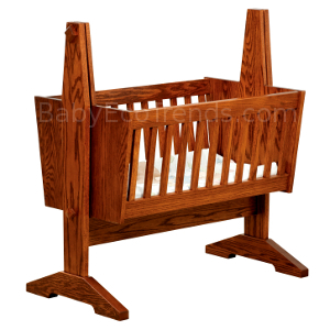 USA Made Mission Baby Cradle Solid Wood Baby Furniture