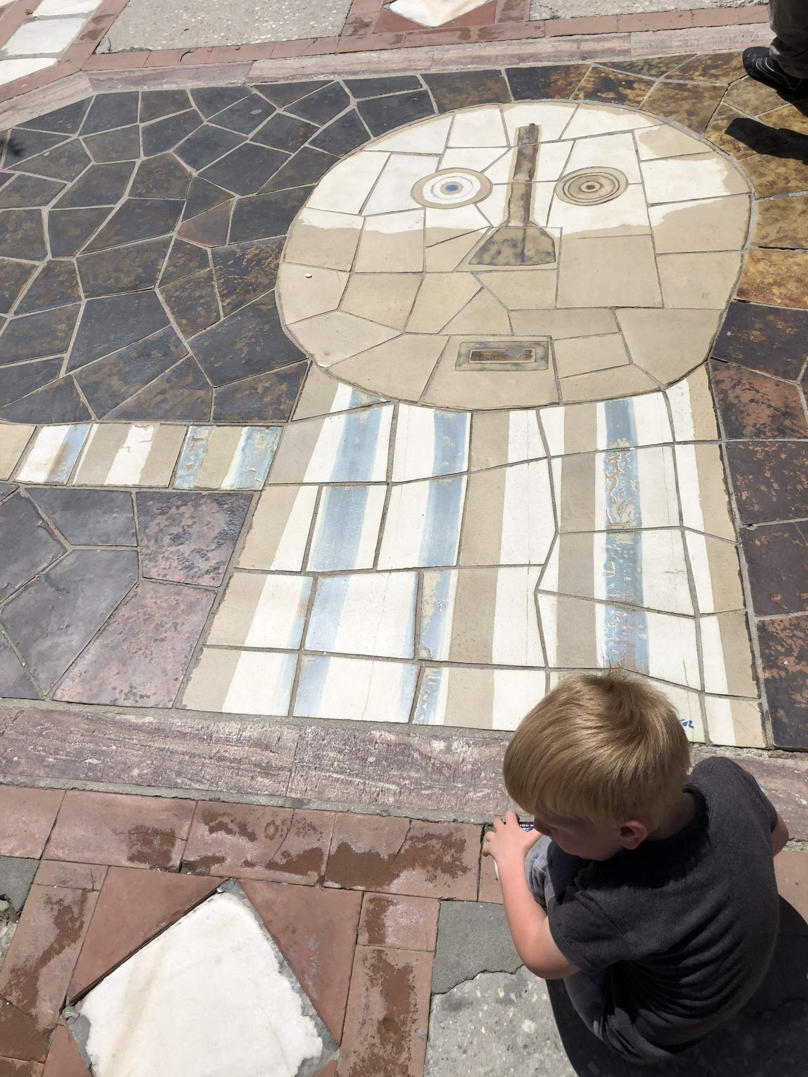 The floor tiles at the promenade of Benalmadena are varied and interesting.
