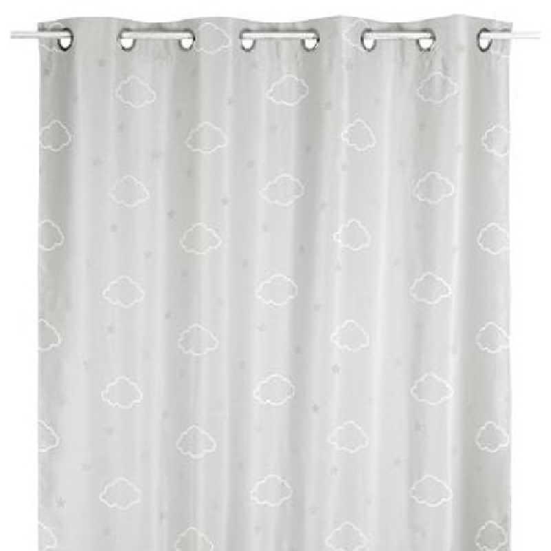 rideau occultant enfant phosphorescent gris 140 x 250