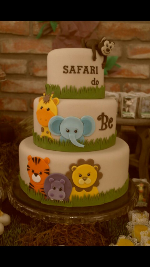 Animals Invitations Shower Safari Baby