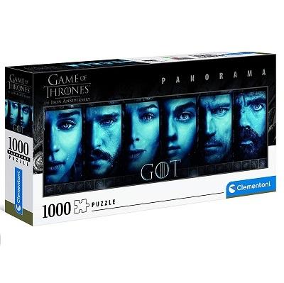 Clementoni- Panorama Game of Thrones Adulti 1000 Pezzi