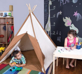 teepees for imaginative play
