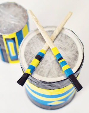 DIY toddler drum sticks