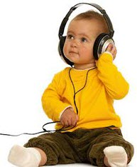 babies listerning to music