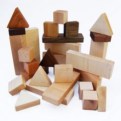 wooden blocks with raw wood added