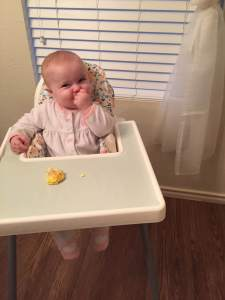 Evelyn at 6mo - Baby led Weaning