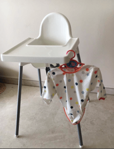 Ikea high chair, full length bib - Baby led weaning