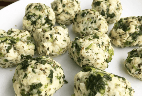 3-Ingredient Chicken and Spinach Balls