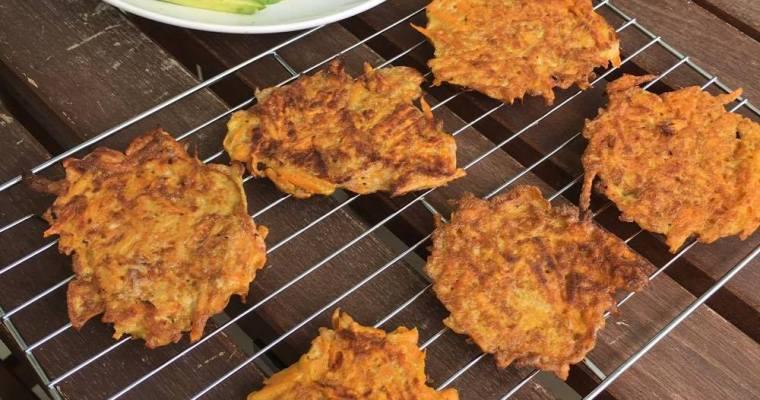 3-Ingredient Sweet Potato Fritters