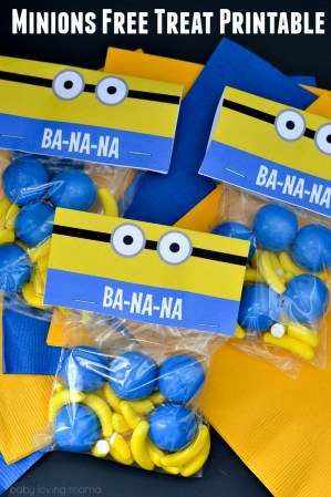 Minions Free Treat Printable