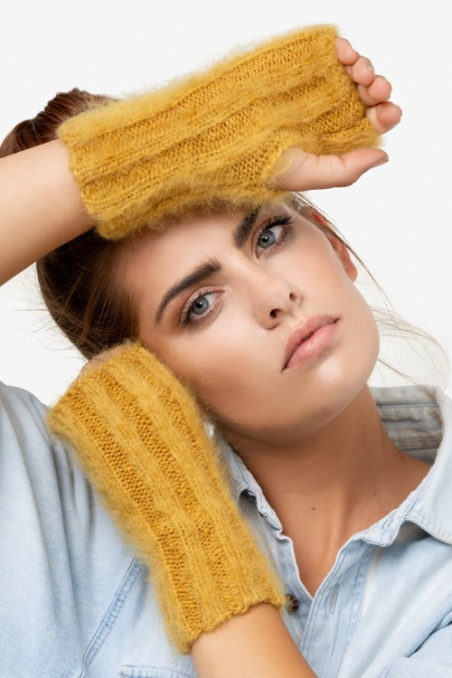 Model-CozyCuffs-Mustard