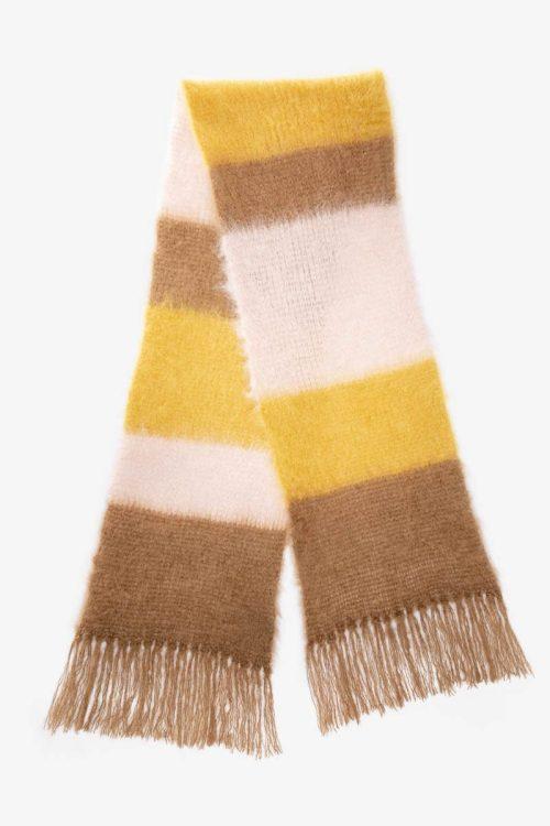 Babymoh Striped Snuggle Blonde - Nude - Mustard