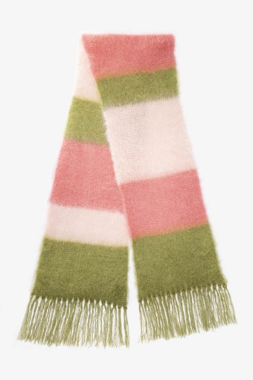 Babymoh Striped Snuggle Olive - Nude - Coral