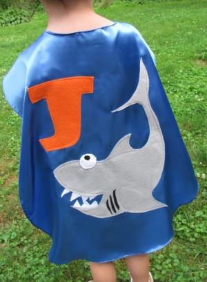 custom kids capes,superhero costumes,shark