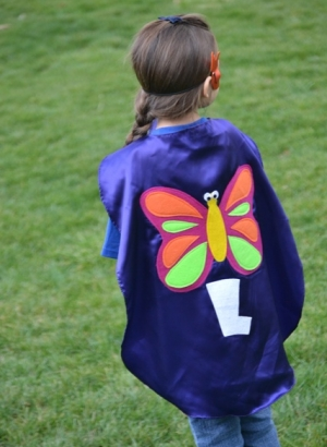 butterfly kids capes,butterfly princess